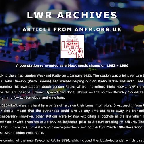 AM-FM Article: Black Music Champion 1983-1990